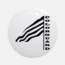 Colorguard Flag Ornament (Round)