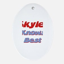 Skyler Knows Best Oval Ornament