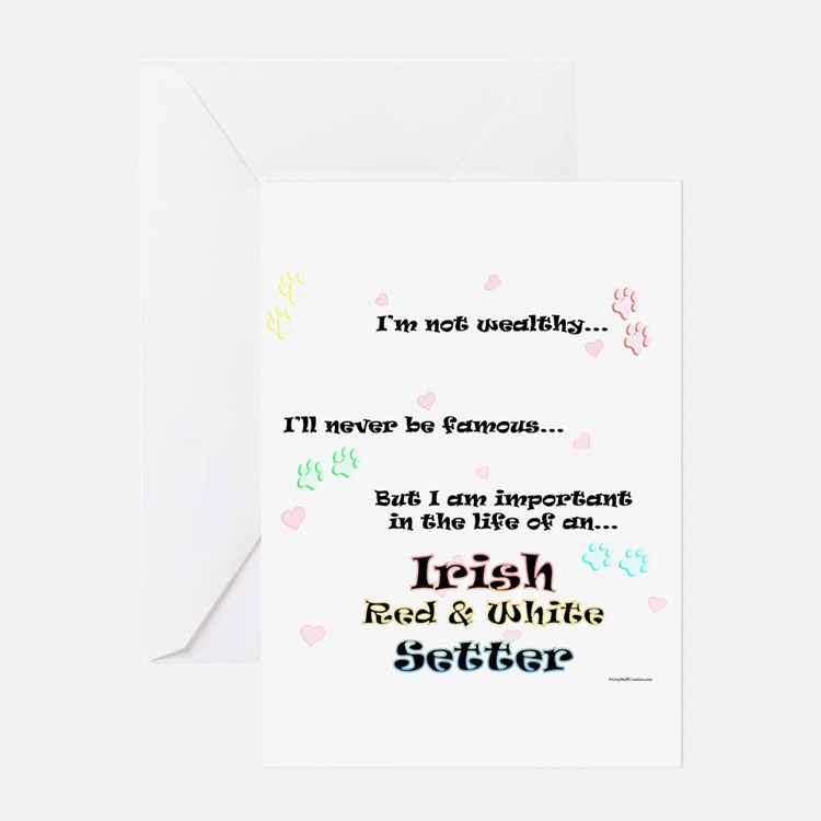 Red & White Life Greeting Card