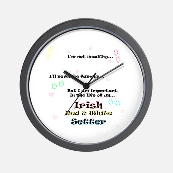 Red & White Life Wall Clock