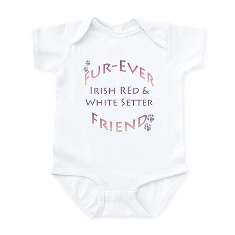 Red & White Furever Infant Bodysuit