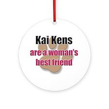 Kai Kens woman's best friend Ornament (Round)