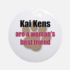 Kai Kens woman's best friend Ornament (Round)
