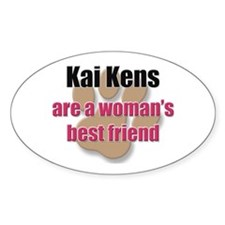 Kai Kens woman's best friend Oval Decal