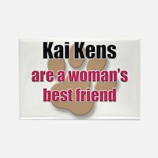 Kai Kens woman's best friend Rectangle Magnet (10