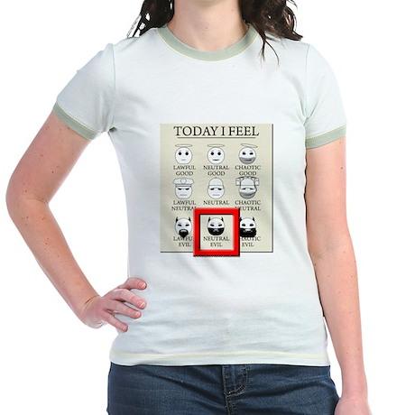 Today I Feel - Neutral Evil Jr. Ringer T-Shirt