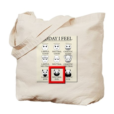 Today I Feel - Neutral Evil Tote Bag