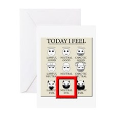 Today I Feel - Neutral Evil Greeting Card