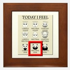 Today I Feel - Neutral Evil Framed Tile