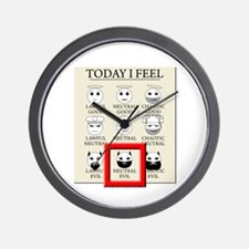 Today I Feel - Neutral Evil Wall Clock