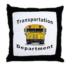 Transportation Department Throw Pillow