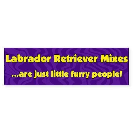 Furry People Lab Mix Bumper Sticker