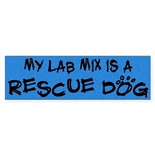 Rescue Dog Lab Mix Bumper Bumper Sticker