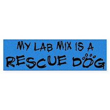 Rescue Dog Lab Mix Bumper Bumper Sticker