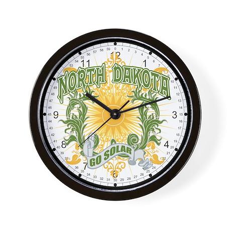 Go Solar North Dakota Wall Clock