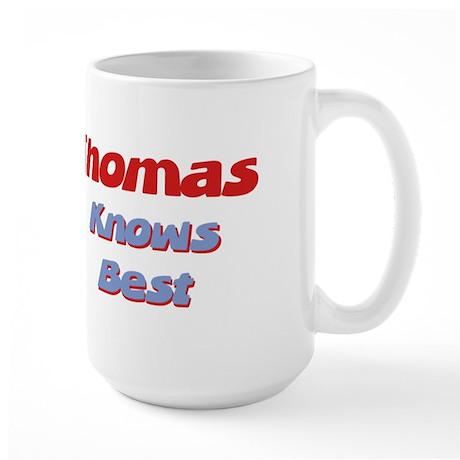 Thomas Knows Best Large Mug