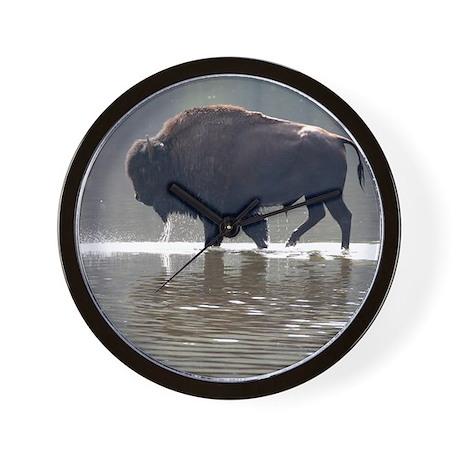 Backlit Bison Wall Clock