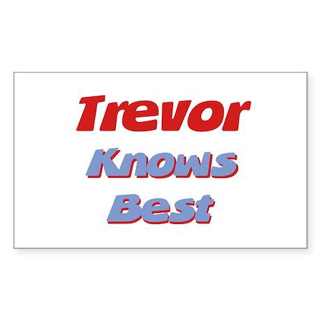 Trevor Knows Best Rectangle Sticker
