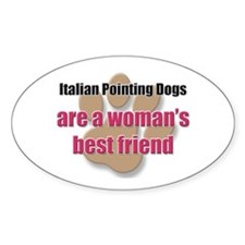 Italian Pointing Dogs woman's best friend Decal