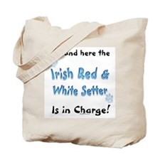 Red & White Charge Tote Bag