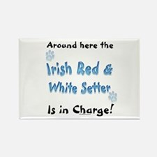 Red & White Charge Rectangle Magnet (10 pack)