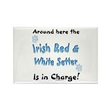 Red & White Charge Rectangle Magnet (100 pack)