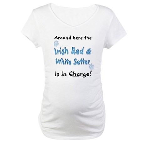 Red & White Charge Maternity T-Shirt