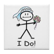 BusyBodies Wedding Bride Tile Coaster