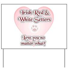 Red & White Love U Yard Sign