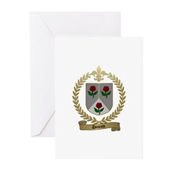DOIRON Family Crest Greeting Cards (Pk of 10)