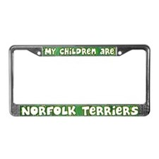 My Children Norfolk Terrier License Plate Frame