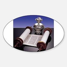Torah Crown Oval Decal