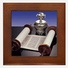 Torah Crown Framed Tile