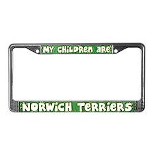 My Children Norwich Terrier License Plate Frame