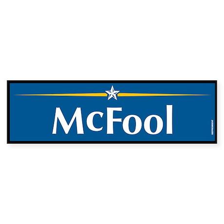 McFool Anti McCain Bumper Sticker
