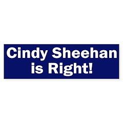 Cindy Sheehan is Right bumper sticker