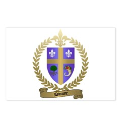 DIONNE Family Crest Postcards (Package of 8)