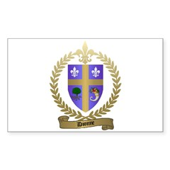 DIONNE Family Crest Rectangle Decal
