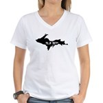 UP - Upper Peninsula Women's V-Neck T-Shirt