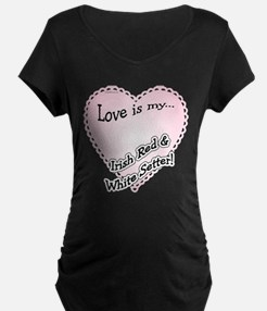 Red & White Love Is T-Shirt