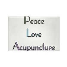 Peace, Love and Accupuncture Rectangle Magnet