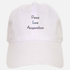 Peace, Love and Accupuncture Baseball Baseball Cap