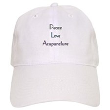 Peace, Love and Accupuncture Baseball Cap