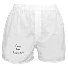Peace, Love and Accupuncture Boxer Shorts