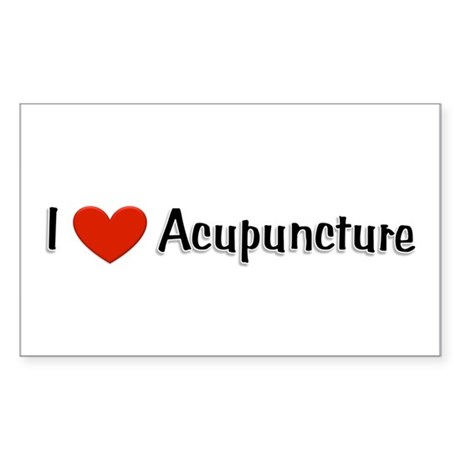 I love acupuncture Rectangle Sticker 10 pk)