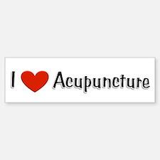 I love acupuncture Bumper Bumper Bumper Sticker
