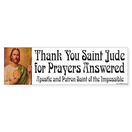 Saint Jude Bumper Sticker