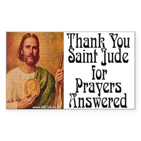 Saint Jude Rectangle Sticker