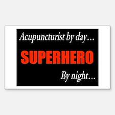 Superhero Acupuncturist Gift Rectangle Decal