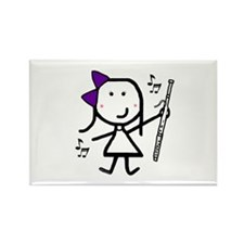 Bassoon - Purple Rectangle Magnet